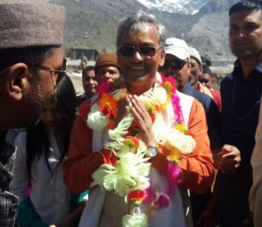 Trivendra Singh rawat departed for new delhi for meeting